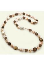 Chanel perle coltivate, quarzo fumè