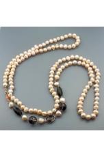 Charleston perle coltivate, quarzo fumè