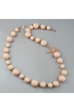 Collier corallo bamboo rosa