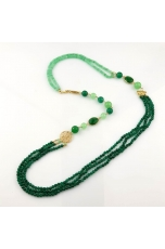 Chanel agata verde smeraldo, giada crisopaz