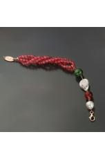 Br giada  rosa e verde, perle coltivate