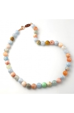 Collier acquamarina multicolor 10 mm