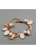 Br charms conchiglia e corallo rosa