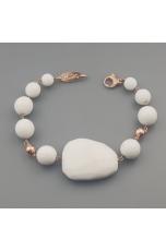 Bracciale agata bianca