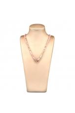 Collier opale rosa taglio diamond