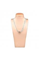 Collier acquamarina milk taglio diamond