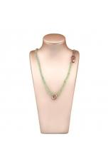 Collier quarzo rutilato verde taglio diamond