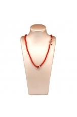 Collier corallo bamboo rosso