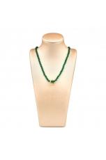 Collier agata verde smeraldo