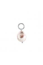 Ciondolo-orecchino arg.rh perla barocca coltivata 12-14-mm