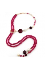 Chanel agata ruby, giada rosa, perle coltivate