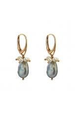 Orecchini perla coltivata biwa silver
