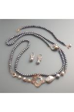 Parure perle coltivate