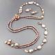 Parure perle coltivate arg.925/00 pl oro rosa