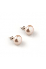 Orecchini perla coltivata  bianca 10-10,5 mm
