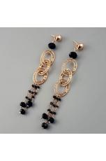 Orecchini spinello  e agata nera  lunghezza 10 cm