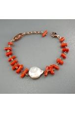 Br Corallo rosso sardo, perla di fiume biwa