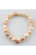 Bracciale perle coltivate   multicolor 10-11 mm