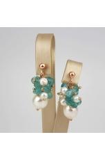 Orecchini perle coltivate apatite