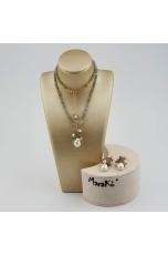 Parure Labradorite, perle coltivate