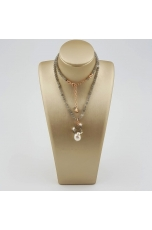 Collier Labradorite, perle coltivate