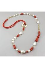 Chanel corallo rosso sardo, perle coltivate