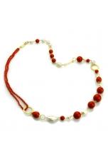 Chanel corallo bamboo red,  perle coltivate