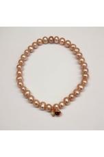 Bracciale perle coltivate  6 mm glicine