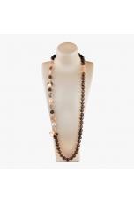 Collana scomponibile  Quarzo fumé, perle coltivate