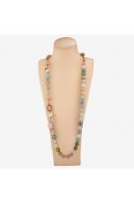 Collana scomponibile  acquamarina multicolor, opale rosa
