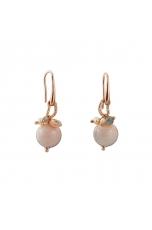 Orecchini diseguali opale rosa