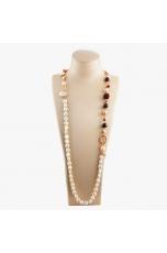 Collana scomponibile perle coltivate, Granato taglio diamond
