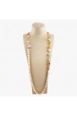 Collana scomponibile perle coltivate, quarzi multicolor