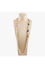 Collana scomponibile perle  coltivate, Calcedonio, agata blu