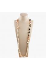 Collana scomponibile perle  coltivate, agata nera