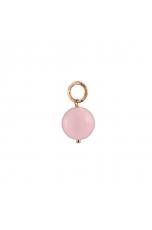 Ciondolo-orecchino opale rosa 12 mm