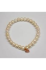 Bracciale perle coltivate bianche 6 mm