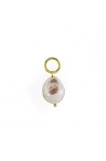 Ciondolo-orecchino perla barocca coltivata 12-14-mm