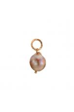 Ciondolo-orecchino Perla coltivata barocca rosa