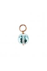 Ciondolo-Orecchino Ossidiana celeste 12 mm