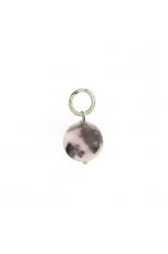 Ciondolo-Orecchino diaspro rosa 12 mm