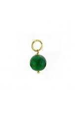 Ciondolo-Orecchino Agata verde smeraldo 12 mm