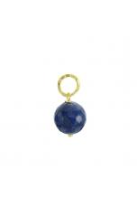Ciondolo-Orecchino Agata blu 12 mm