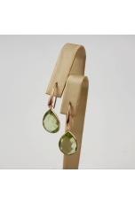 Orecchini goccia quarzo verde idrotermale