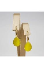 Orecchini goccia agata gialla
