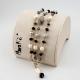 Bracciale a tre fili, perle coltivate, quarzo rutilato grigio