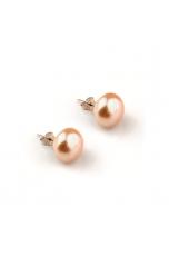 Orecchini perla 10 -10,5 mm rosa