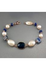 Br perle di fiume, quarzo idrotermale blu light,cianite