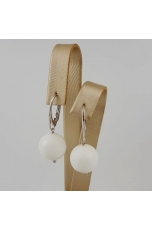Orecchini Agata bianca 14 mm