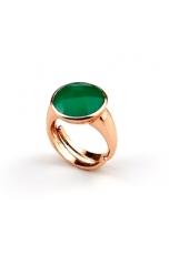 An agata verde smeraldo